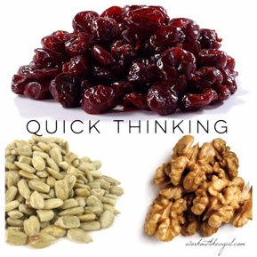 ... fast on your feet! Here's a quick snack to help you do just that